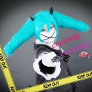 VOCALOID MIKU Secret Police Light Blue two Ponytails Cosplay Wig