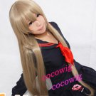 Axis Powers hetalia White Russia Tea brown Long  cosplay wig  100cm