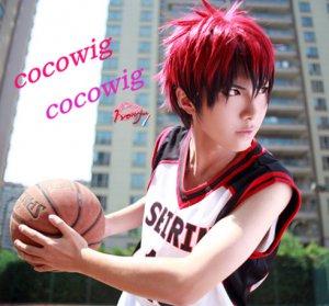 Kuroko's Basketball Kagami Taiga red black mix Cosplay Short Wig