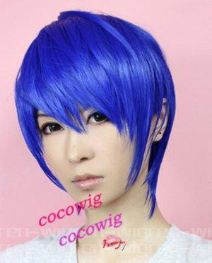 vocaloid kaito short royalblue cosplay wig
