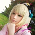 Ao No Exorcist Shiemi Moriyama Cosplay Wig Costume Short Blonde