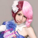 Animation TEKKEN ALISA Red Mix Pink Short Cosplay Party Hair Wig