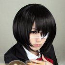 Another Misaki Mei Cosplay Costume Short Black Party Wig