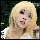 Hot Sell!  Short Milk Blonde Straight Cosplay Wig 45cm