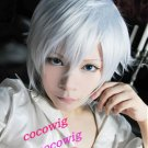 HOT! Anime Axis Powers hetalia Short APH Prussia Silver White Cosplay Party Wig