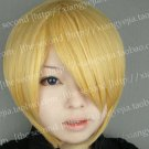Sanji ONE PIECE Short Anime Costumes Blonde Cosplay Party Hair Full Wig