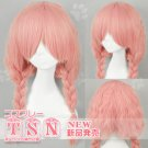 New Style Inu x Boku SS Roromiya Karuta Pink Braided Cosplay Party Hair Full Wig