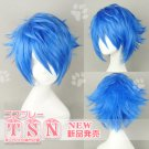 Vocaloid Kaito Blue Short layered Anime Cospaly Party Hair Full Wig