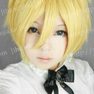 Usui Takumi Golden Short Party Hair Cosplay Anime Costume Wig