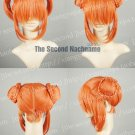 Gintama Kagura Dark Orange Short Anime Cosplay Party Hair Wig