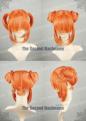 Gintama Kagura Dark Orange Short Anime Cosplay Party Hair Wig