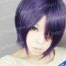Gintama Takasugi Shinsuke Cosplay Wig Purple/Black