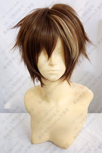 Guilty Crown OUMA SHU Brown Mix Short Layers  Anime Cosplay Party Hair Wig