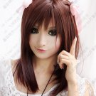 Hot Sell! Angel Beats!Yuri Nakamura Brown Cosplay  Wig  45cm