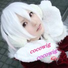 Bleach Ichimaru Gin Short Pure White Costume Cosplay Party Wig Coser hair