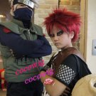 NARUTO Sabaku no Gaara/ Gaara Short Straight Wine Red Anime Party Cosplay Full Hair Wig