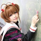 Kinomoto Sakura Anime Short Brown cos Cosplay Party Hair Wig