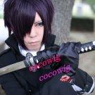 Gintama Takasugi Shinsuke Short layered Black Purple Short Cosplay Wig