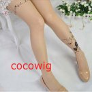 Woman  Fashion Sexy Tattoo flower print Pantyhose & Tights Leggings  Stocking