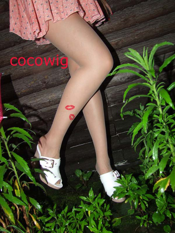 Woman  Fashion Sexy Tattoo lipstick print Pantyhose & Tights Leggings  Stocking