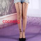 Woman  Fashion Sexy Tattoo rose print Pantyhose & Tights Leggings  Stocking