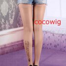 Woman  Fashion Sexy Tattoo letters print Pantyhose & Tights Leggings  Stocking