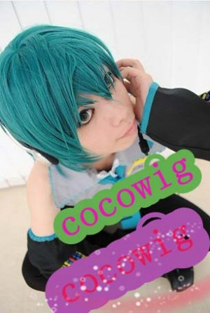 dark green hot sell short cosplay party hair wig