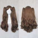 Lolita Brown Curly Ponytails Cosplay Party Hair Wig 80cm