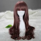 Lolita Japanese Harajuku Zippe Brown Gradient Kawaii Christmas Cosplay Party Full Wig