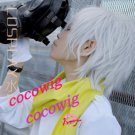 NEW Dramatical Murder DMMD Clear short silver white cosplay wig