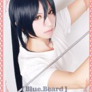 new K Yatogami Kurou long dark blue cosplay wig