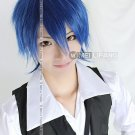 Vacaloid Kaito New Short Mix Blue/Black Cosplay Costume Wig