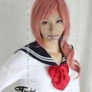 Final Fantasy FF XIII LIGHTNING Fresh Pink Anime Cosplay Curly Wig