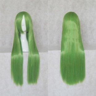 Code Geass C.C  80cm  Long Straight Mix Green Cosplay Costume Wig