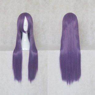 Busujima Saeko Long Straight  Cosplay Purple Mix Wig 80CM