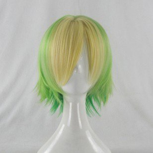 happy tree friends yellow green cosplay wig