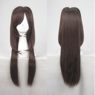 type moon fate/stay night Aozaki Aoko long dark brown cosplay wig