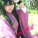 New Vocaloid Miku Senbon Sakura Deep Green Cosplay Wig Two Ponytails 120CM
