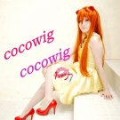 EVA Asuka Langley Soryu Orange 80cm Long Straight Anime Cosplay Wig