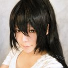 Soul eater NAKATSUKASA TSUBAKI black one ponytail 115cm cosplay wig