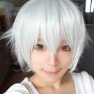 new  K ISANA YASHIRO short silver white cosplay wig