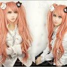 Danganronpa Dangan-Ronpa Junko Enoshima Long Ponytails Pink Cosplay Wig