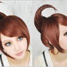 Danganronpa Dangan-Ronpa Aoi Asahina Brown 1 clip on ponytail Cosplay Wig