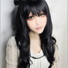 "RWBY ""Black"" Trailer Blake Belladonna Black Long curly cosplay wig"