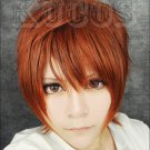 K Yata Misaki Short Orange Cosplay wig Costume Free shipping