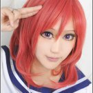 LOVE LIVE Nishikino Maki short red Cosplay wig costume + free shipping