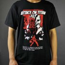 Anime Attack on Titan Investigation Corps Black T-shirt Clothing DIY Cosplay Costume