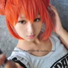 Gintama Silver Soul Kagura short orange Cosplay Wig+Gift