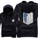 Hot sell Anime Attack on Titan Investigation Corps unisex long Sleeve black Cosplay Costume Hoodie