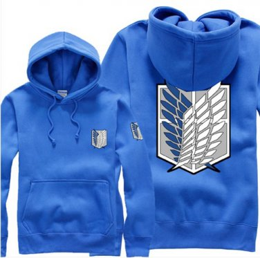 Hot sell Anime Attack on Titan Investigation Corps unisex long Sleeve blue Cosplay Costume Hoodie